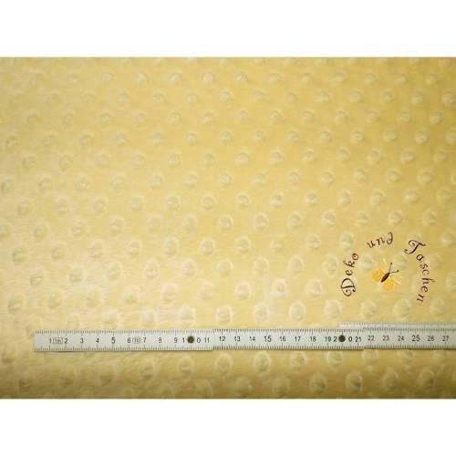 Meterware Minky traumhaft weicher Plüschstoff Fleece hochwertiger Microfaser-Plüsch Shannon Fabrics Cuddle Dimple Gelb