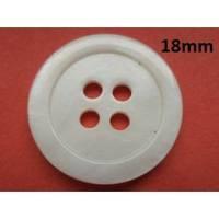 Perlmuttknöpfe weiß 18mm (4746) Knöpfe Bild 1