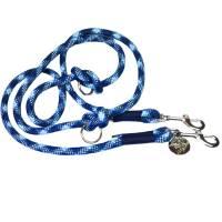 Hundeleine verstellbar blau hellblau weiß AlsterStruppi Wunschlänge Bild 1