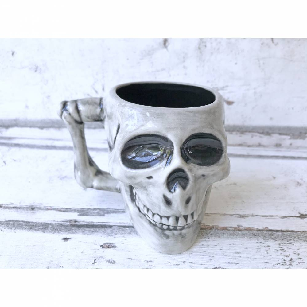Tasse,Totenkopf, 250ml, Keramik, handbemalt Bild 1