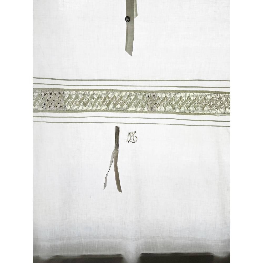 Landhaus Scheibengardine, echt vintage, Gardinen, l 117 cm, b 73 cm, Vorhang, Spitzengardine, Küchengardine, Unikat Bild 1