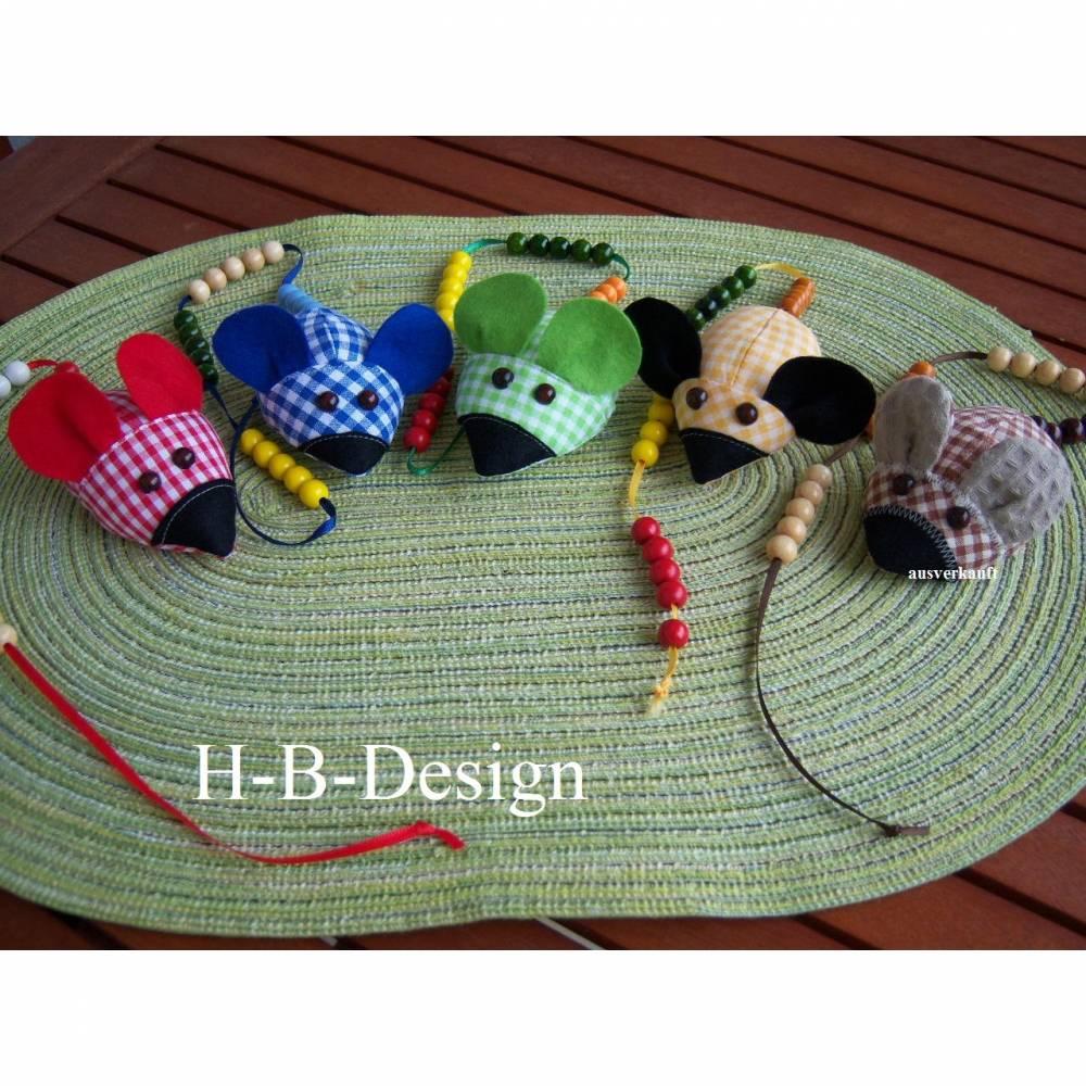 Rechenmaus, Rechenhilfe zum Schulstart aus Baumwolle, Einschulung, Bild 1
