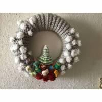 Weihnachtlicher Adventskranz für die Tür / Wand, Weihnachtsdeko, Türschmuck,Wandschmuck,Weihnachtsbaum,Geschenke Bild 1