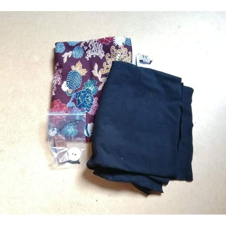 Materialpackung für Knopfschal Nähset Bild 1