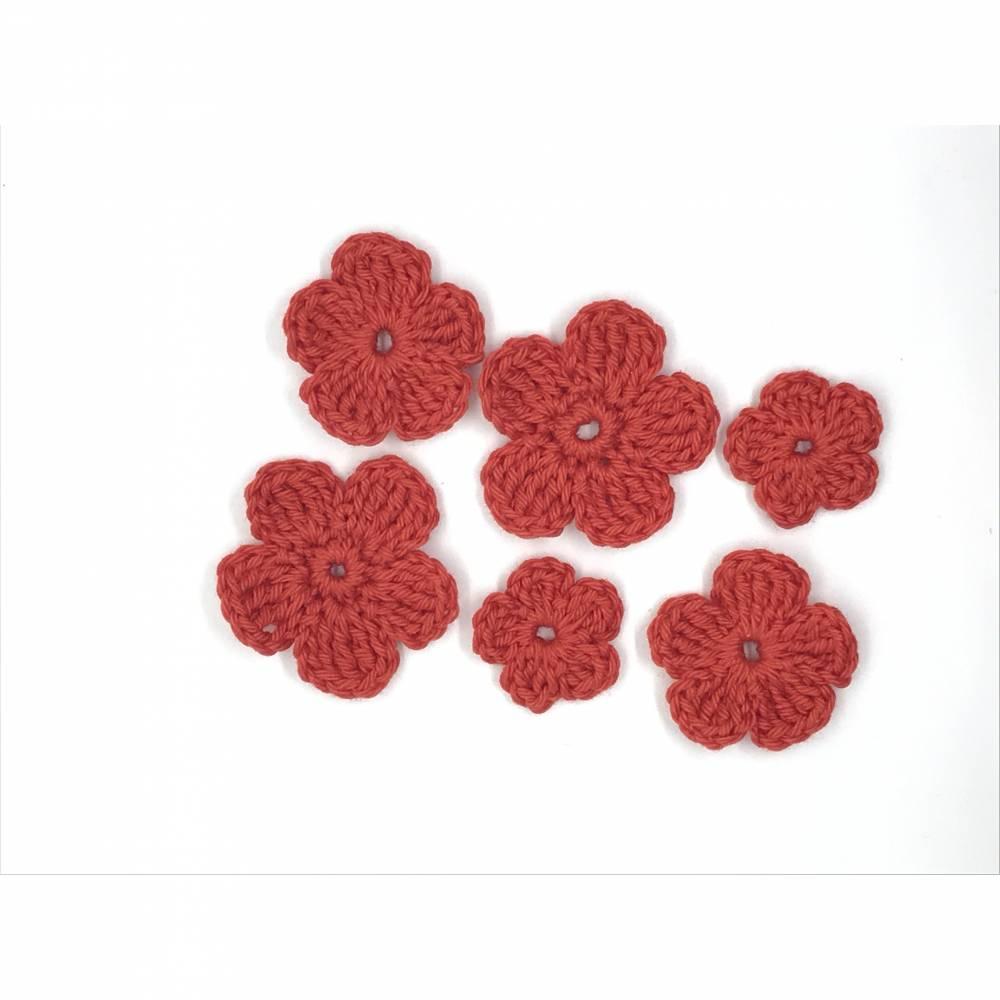 6 Häkelblumen  Bild 1