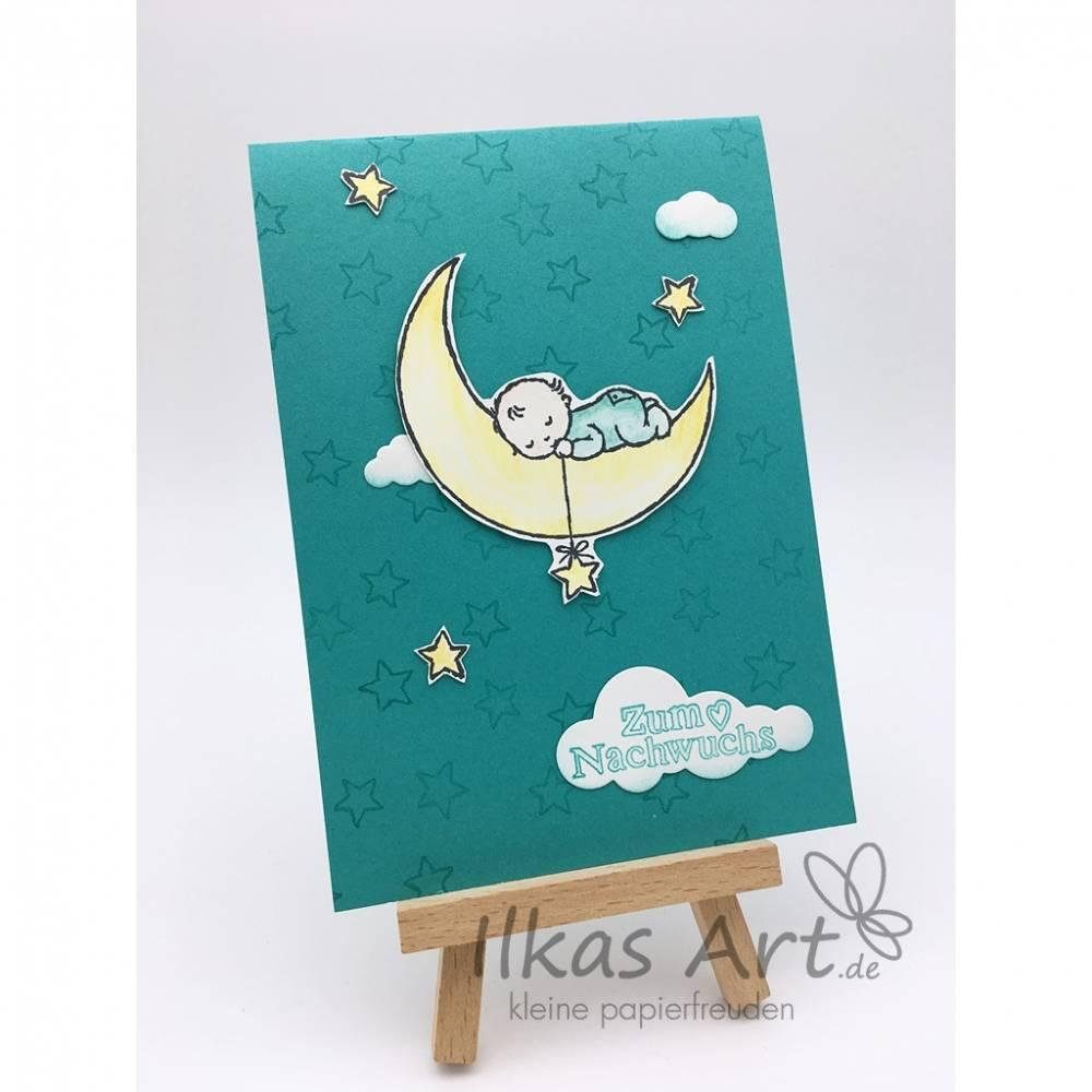 "Glückwunschkarte ""Mondbaby"" Bild 1"