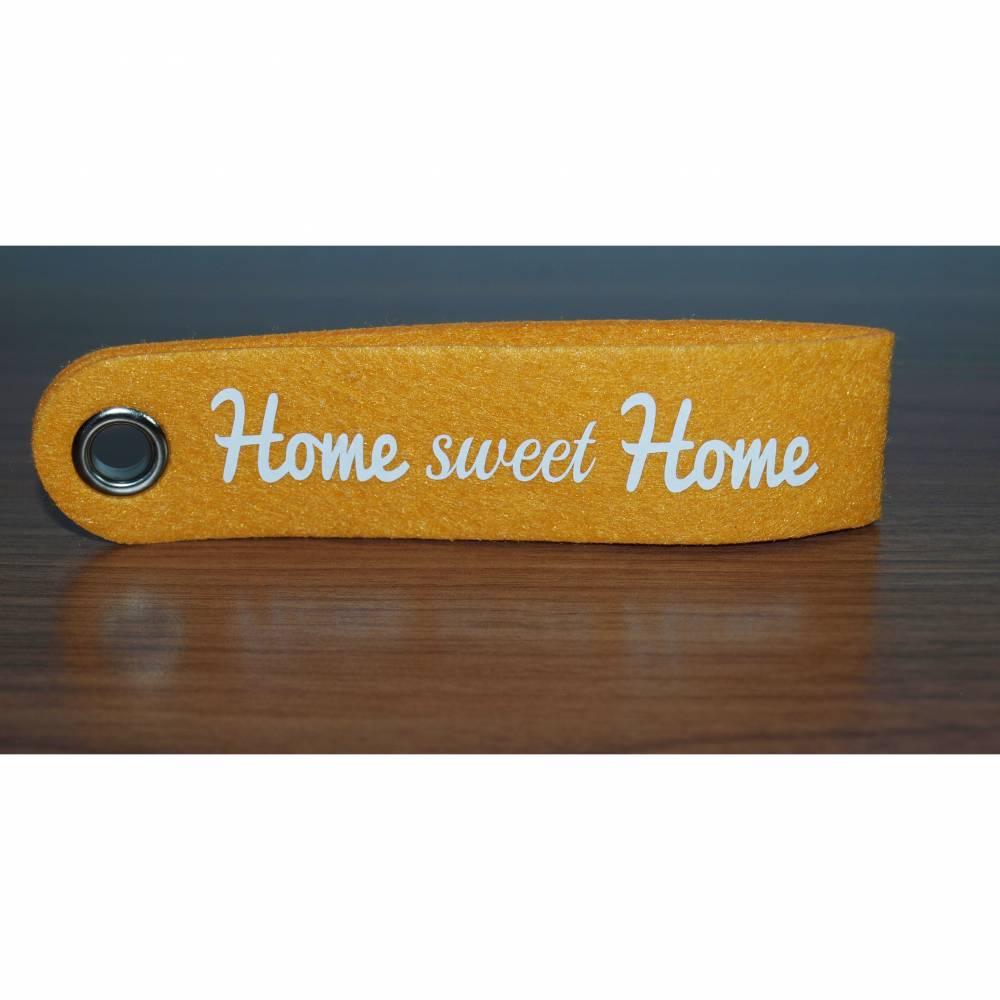 Schlüsselanhänger aus Filz, Home sweet Home Bild 1