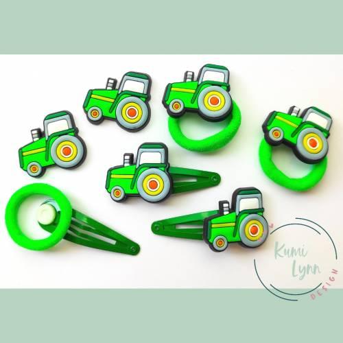 Haarschmuck Set Traktor -Sonderanfertigung-