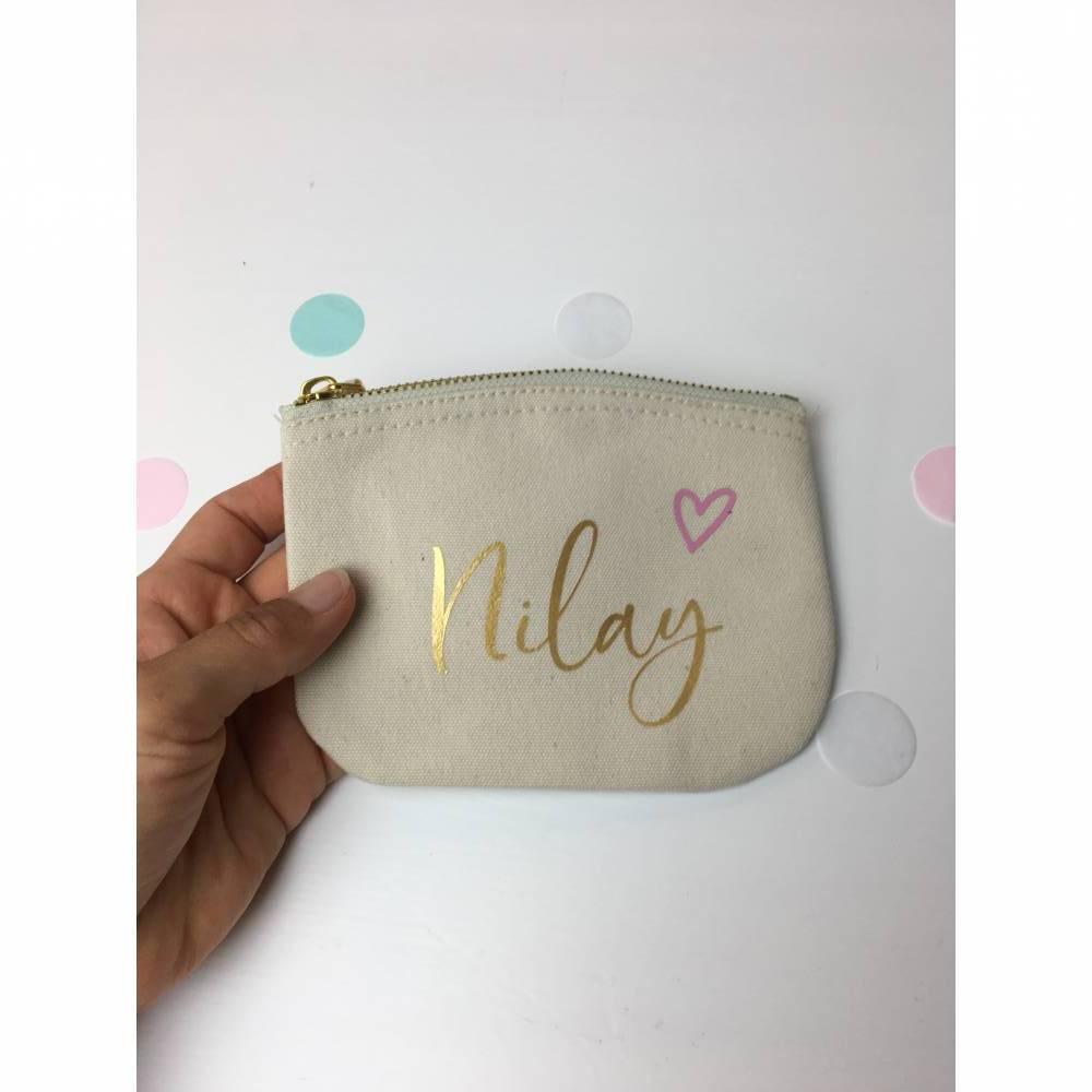 personalisiertes Portemonnaie (Herz), Geschenk für Erzieherin / Tagesmutter Bild 1