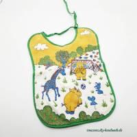 Baby Lätzchen, Motiv Zootiere, Spuckschutz, reine Baumwolle, Vintage, original 1982  Bild 1