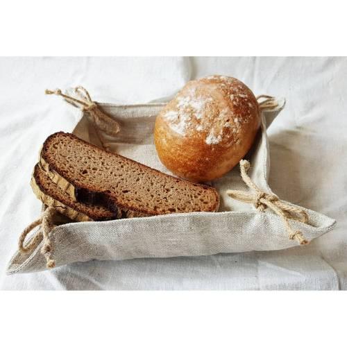 Brotkörbchen, Brotkorb, Utensilo aus Leinen