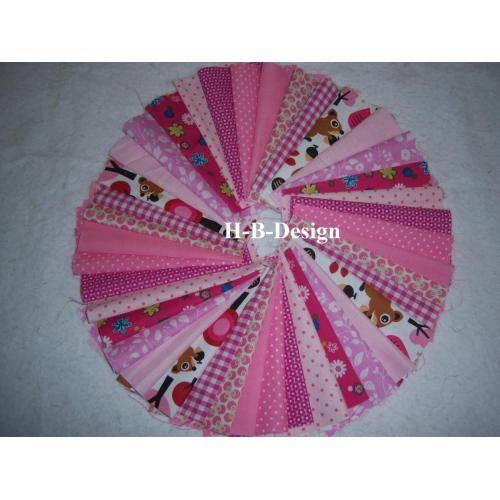 Diy-Scraps-Baumwollstoffe in rosa-pink-Tönen mit Eichhörnchen in 15x15cm, 40 Stück-Ökotex 100 und waschbar bis 40° Bild 1