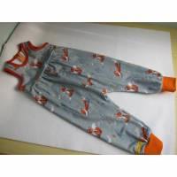 Öko-Strampler für Klein Kinder Forest Fuchse Herbst Gr 80, Baby Strampler  Bild 1