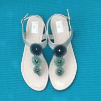 PIMP YOUR SHOES! Wende-Scheiben Set für Schuhe in Türkis-Tönen und Anthrazit Bild 1