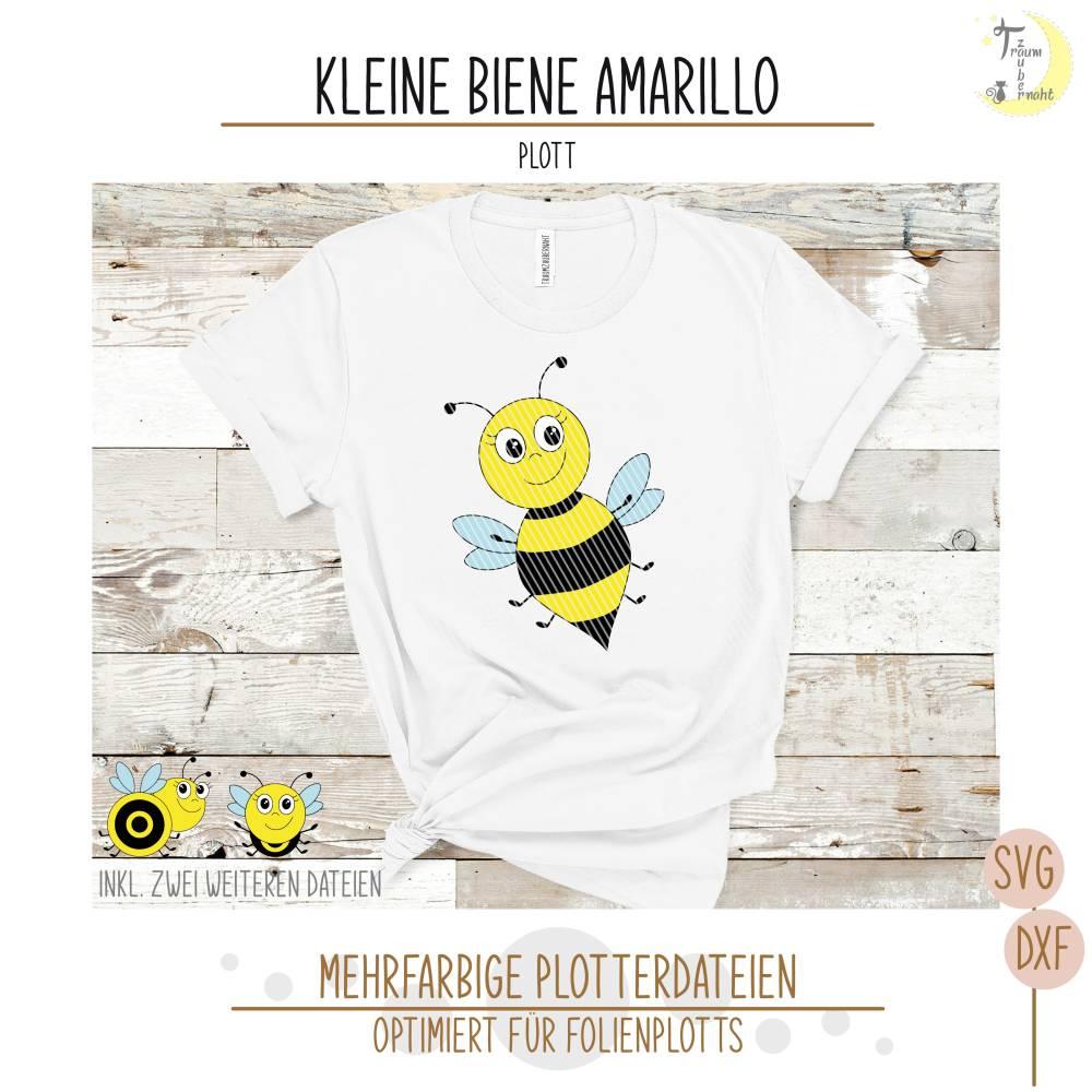 Kleine Biene Amarillo Plottervorlage  Bild 1