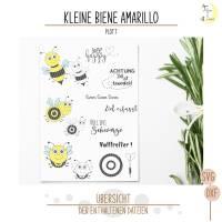 Kleine Biene Amarillo Plottervorlage  Bild 2
