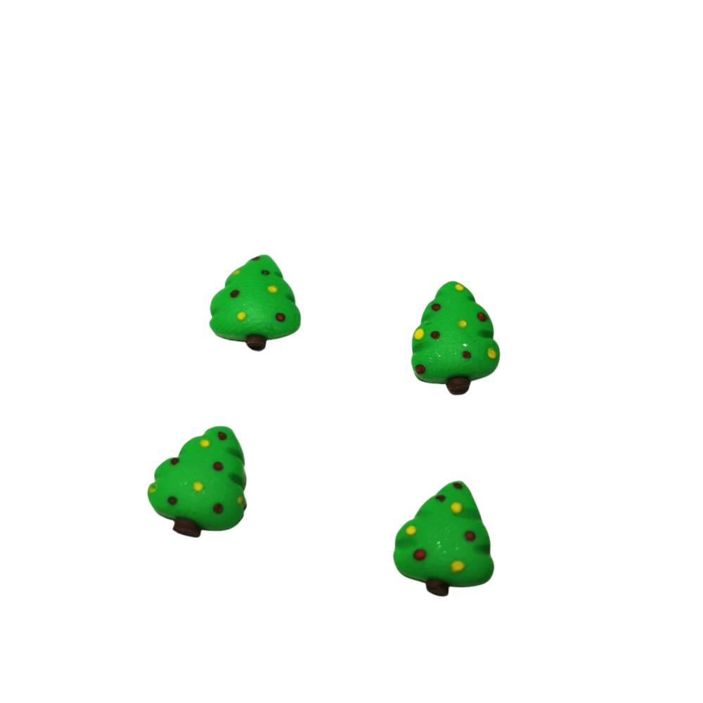 Ein Paar Weihnachtsbaum Ohrstecker aus Fimo, Geschenkidee, Weihnachten, Weihnachtszeit Bild 1