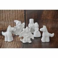 Adventskalenderfüllung, kreativSortiment1, Ritter & Prinzessin, Keramik zum selberanmalen Bild 1