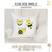 Kleine Biene Amarillo Applikationsvorlage Bild 1