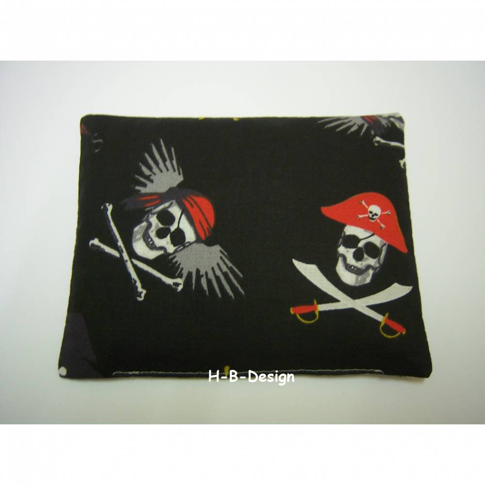 Wärmekissen,Traubenkern, Motivstoff Piraten, Scrulls-Totenköpfe, Bild 1