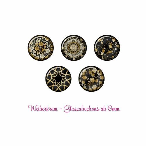 Glas Cabochon mit Motiv ab 8mm / Motivcabochon / Glass Cabochon / Material / Cabochonschmuck (1190)