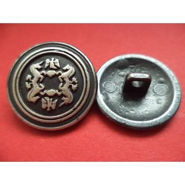 Metallknöpfe 21mm silbern schwarz (2144) Trachtenknöpfe  Knöpfe Bild 1