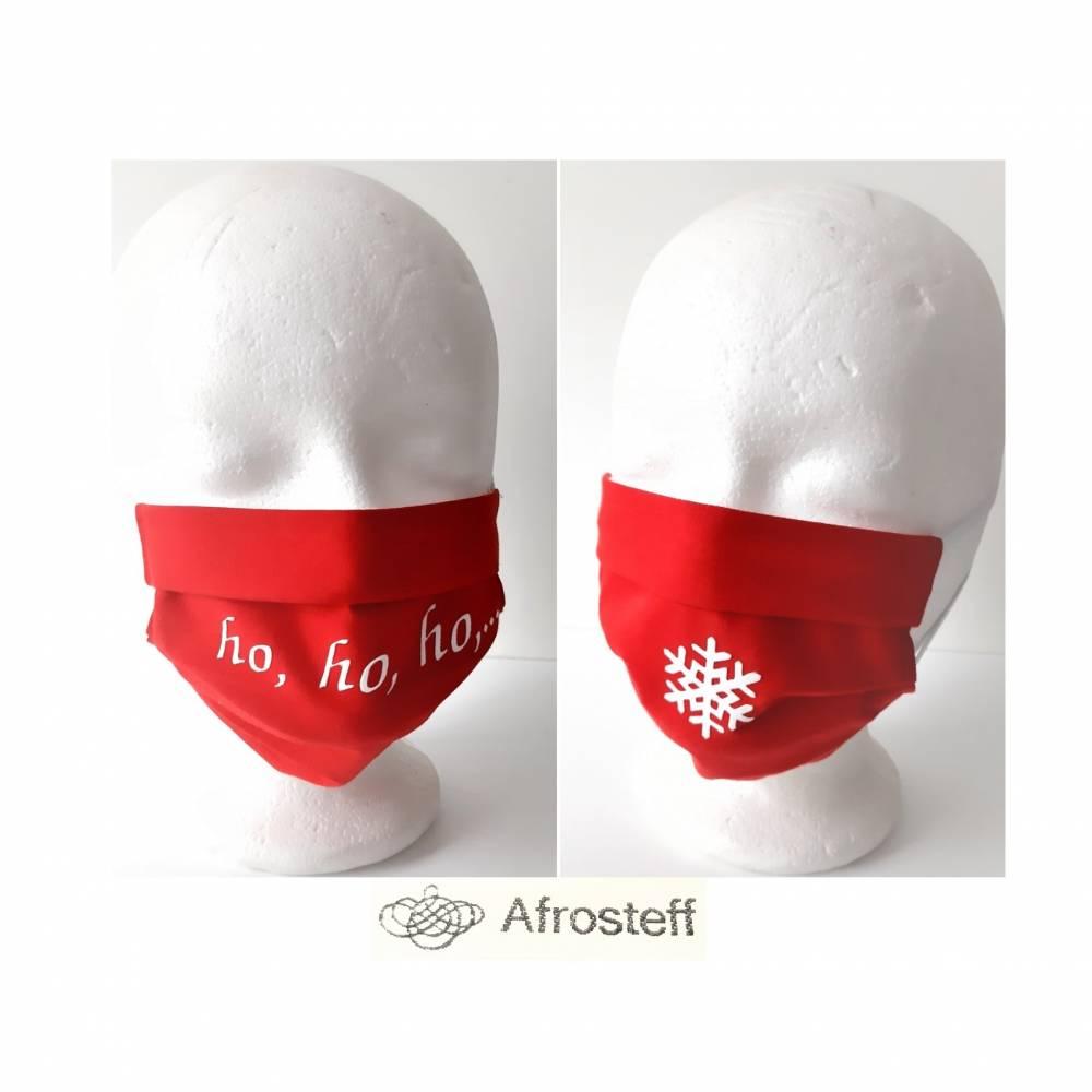 Behelfs Maske, Mund- und Nasenmaske mit Weihnachtsmotiv Bild 1