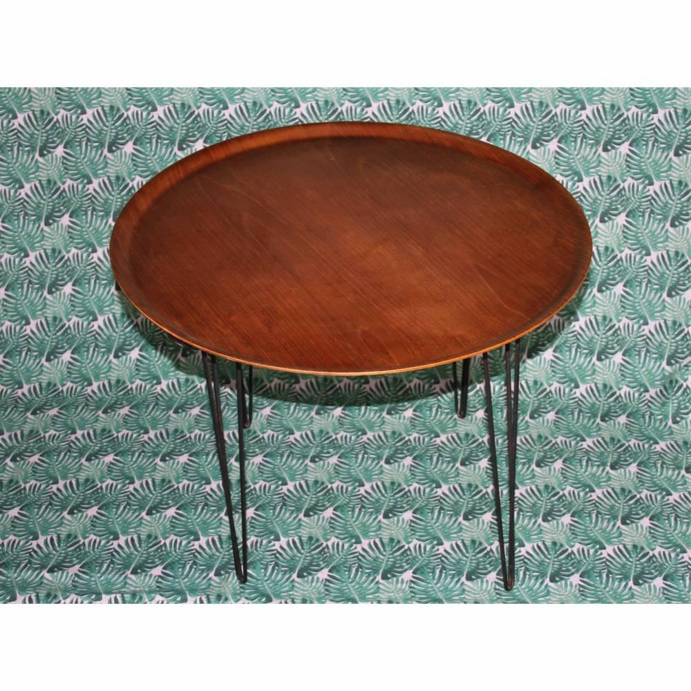skandinavischer Mid Century Tisch Hairpin Legs Bild 1