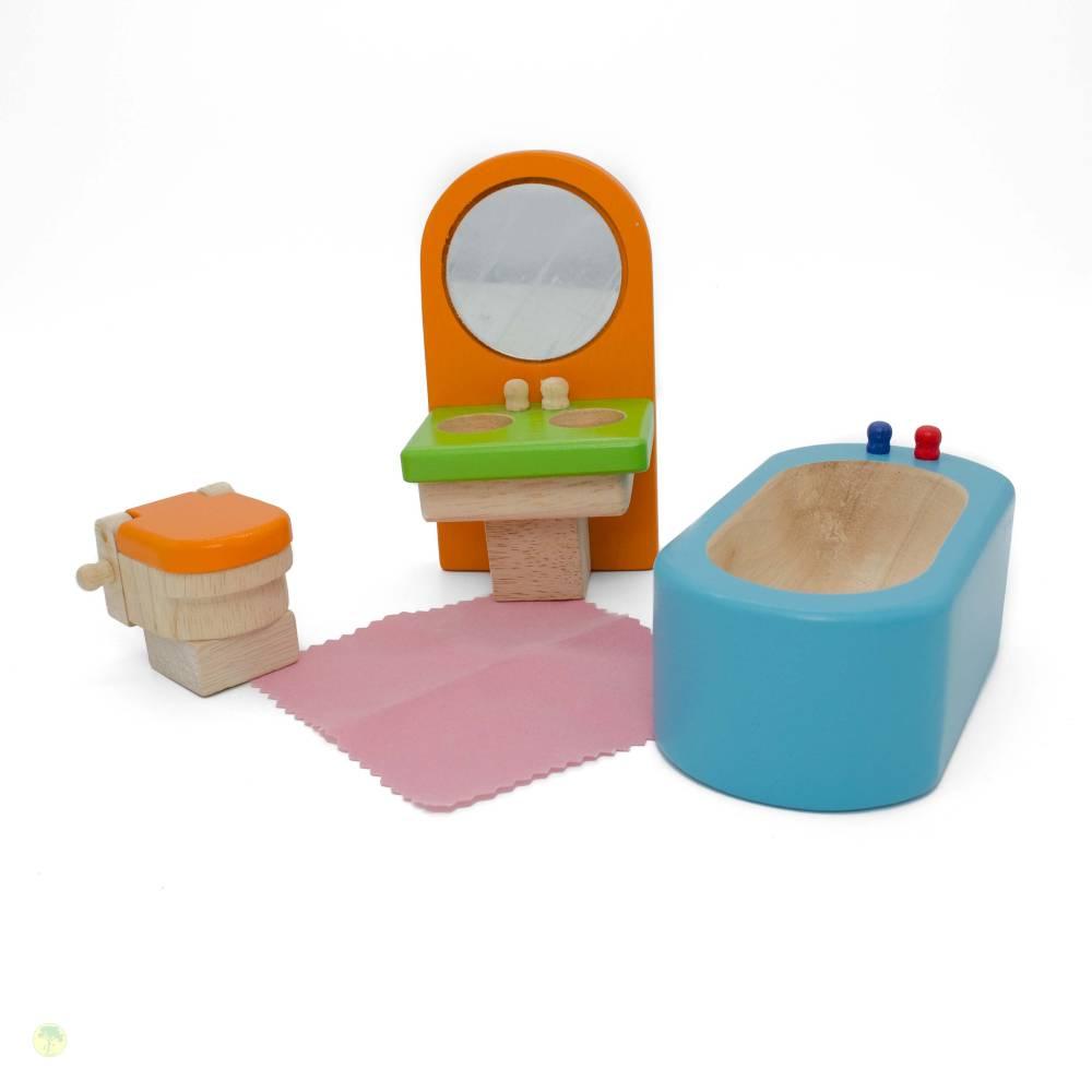 """Puppenstubenmöbel """"Badezimmer"""", Puppenhausmöbel Bild 1"""