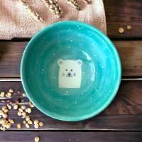 Müslischale - Schale Eisbär, 700ml, Keramik handbemalt Bild 1