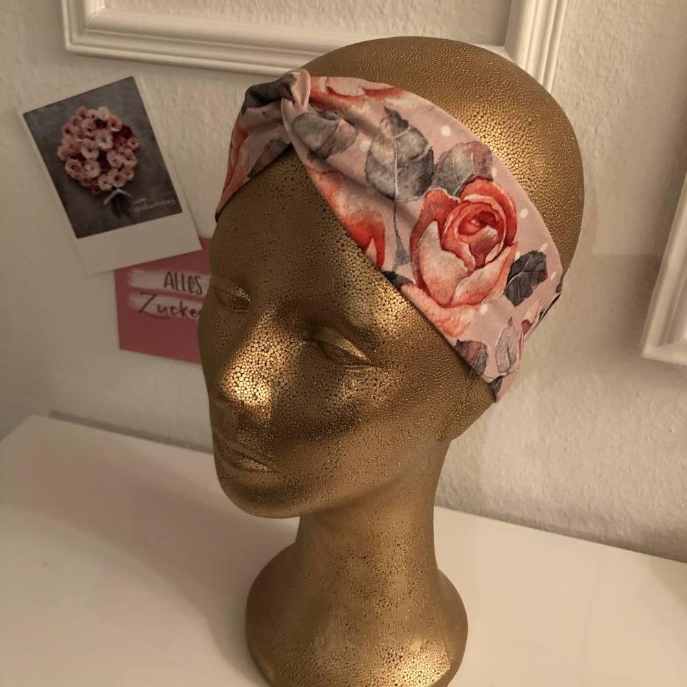 Haarband Stirnband Rosen dünn Bild 1