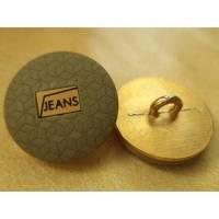 Metallknöpfe grün golden 18mm (4749) Knöpfe Bild 1