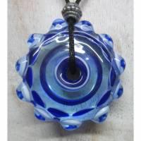 Glasscheibe, Glasrad in Blautönen Bild 1