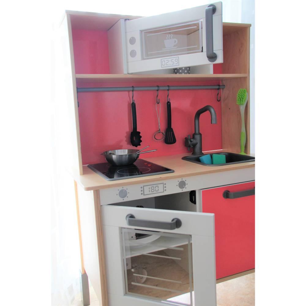 Aufkleber Display+Scheiben Kinderküche, Matschküche, geeignet für z.B. Duktig, Klebefolie, Möbelfolie, Kinderzimmer, Aufkleber Bild 1