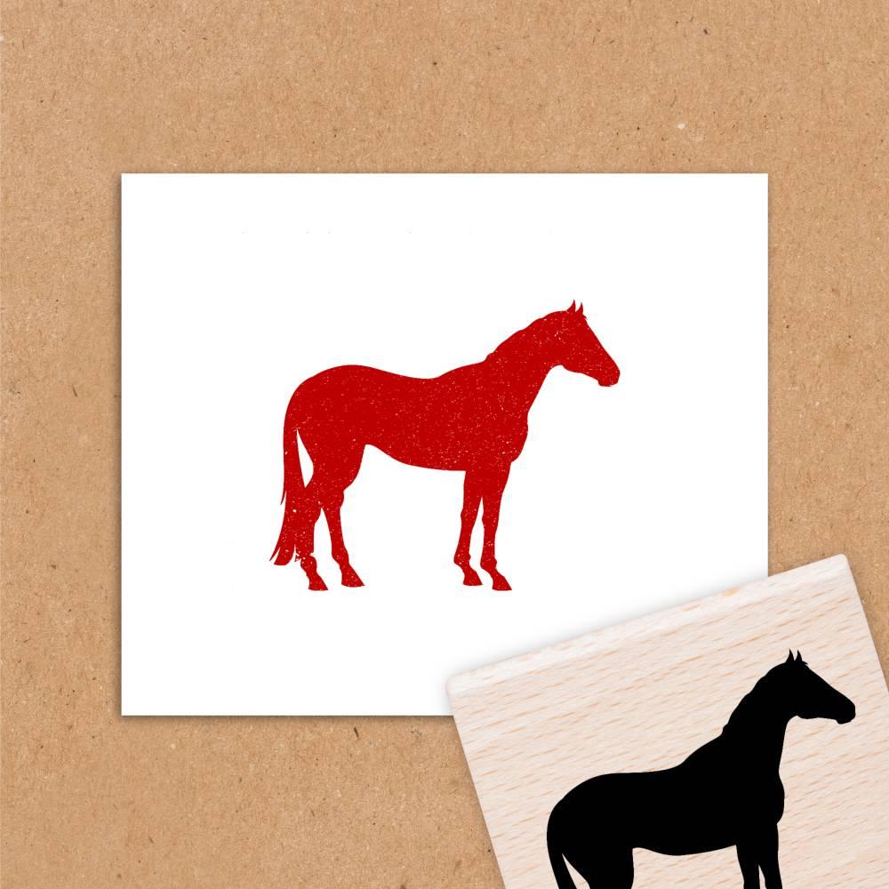 Stempel für Mädchen - Pferd Silhouette 1 - 5x5 cm Bild 1