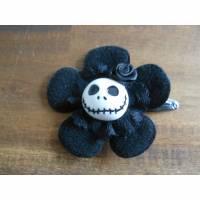 Skull  Blume Stoff schwarz Totenkopf ,Haarspange ,cosplay, Spitze,  Bild 2