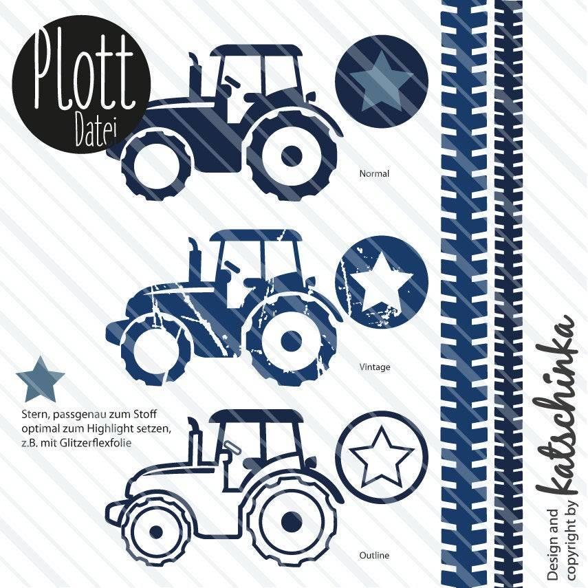 Tecker, Traktor - Plottdatei zum selber plotten Bild 1