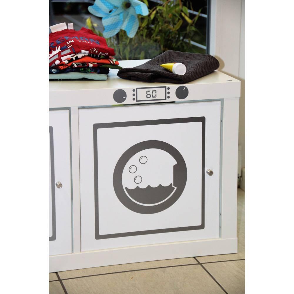 Aufkleber Sticker Möbelfolie Waschmaschine Klebefolie Möbelfolie geeignet für Kallax, Aufkleber, Möbelaufkleber,Matschküche Bild 1