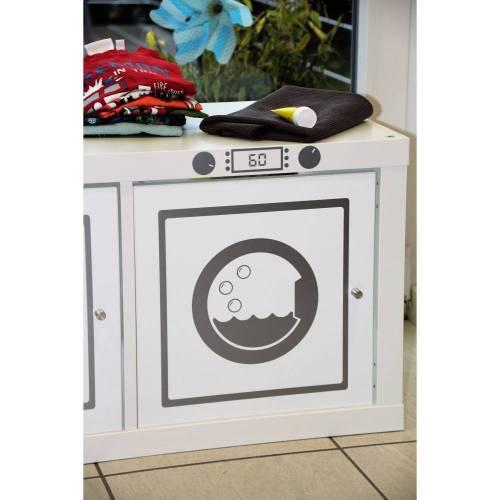Aufkleber Sticker Möbelfolie Waschmaschine Klebefolie Möbelfolie geeignet für Kallax, Aufkleber, Möbelaufkleber,Matschküche