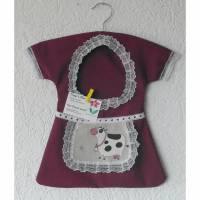 Klammerkleid, Wäscheklammerbeutel, Klammerkleidchen, Kuh- Schürzchen Bild 1