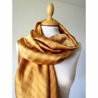 Gefärbtes Seidentuch, Seidenschal, reine Seide, naturgefärbtes Tuch, Geschenk für Frauen, Luxus Schal Bild 1
