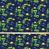 Baumwolljersey Druck - Frösche – Premium Collection grüner Frosch auf dunkelblau  für alle Froschliebhaber Kinderstoff  Bild 2