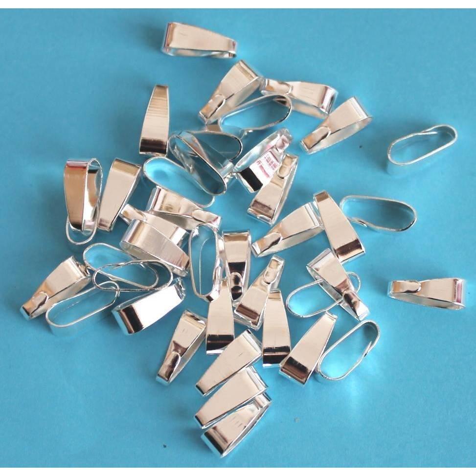 Anhängerschlaufen Collierschlaufen Schlaufen Anhängeröse Öse Metall silberfarben 20, 30 Stück Bild 1