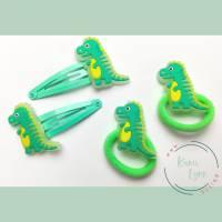 Haarschmuck Set mit Dinosaurier'glowing in the dark' Bild 1
