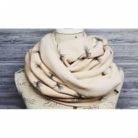 Kuscheliger Fleeceschal Glitzer Pusteblumen beige / nude Bild 1