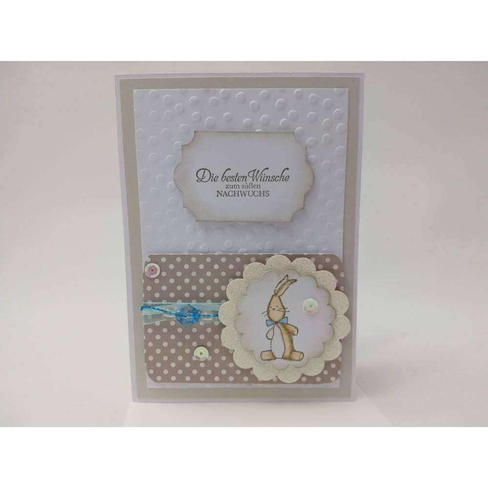 Babykarte mit Umschlag Glückwunschkarte zur Geburt Bild 1