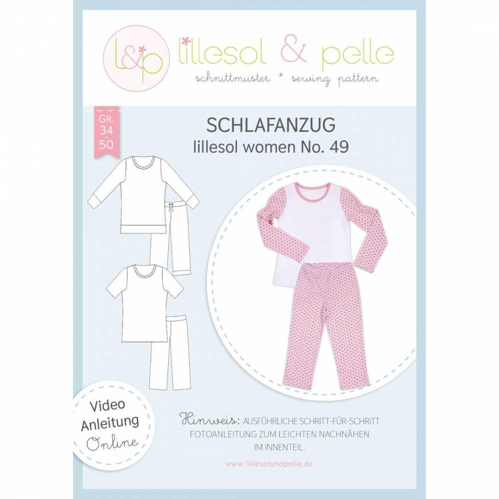 Papierschnittmuster lillesol women No49 Schlafanzug Bild 1