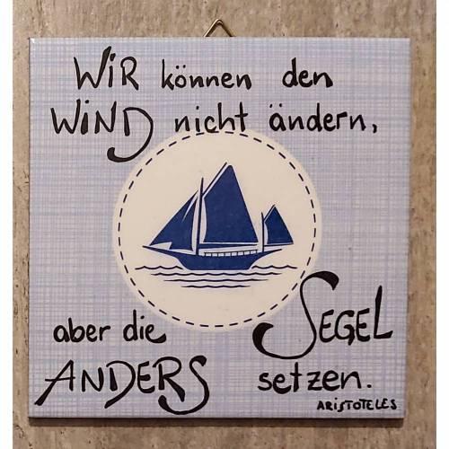 Bild Fliesenbilder UNIKATE 15x15 cm Deko Sprüche Shabby Geschenk handgeschrieben maritim