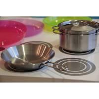 Kochfeld, Kinderküche, Matschküche zum Aufkleben aus Folie, Klebefolie, Möbelfolie, Aufkleber, Möbelaufkleber, Dekor Bild 1