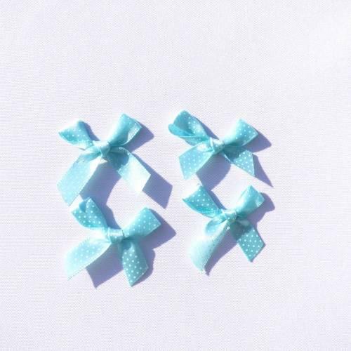 Minischleifen mint weiß 10 Stück